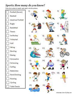 Sports Vocabulary Worksheet by Sports Vocabulary Worksheet Esl Files