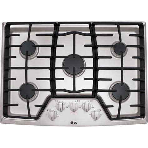 best gas cooktop 30 lg 30 in 5 burner stainless steel gas cooktop common 30