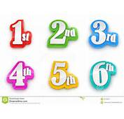 1st 2nd 3rd 4th 5th 6th Numbers On White Background Stock Illustration
