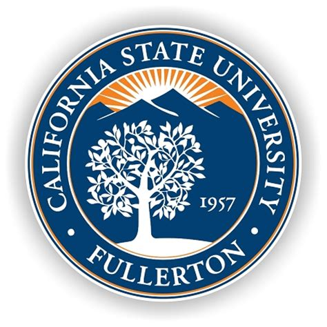 cal state university fullerton emblem die cut decal 4