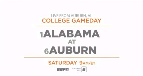 college gameday built by the home depot live from auburn
