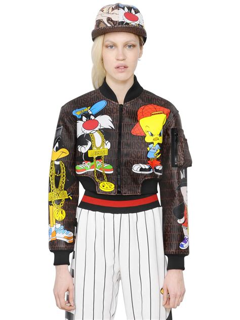 Jaket Moschino Import 1 moschino looney tunes printed bomber jacket in multicolor lyst