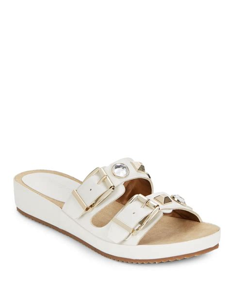 white embellished sandals tracy pike embellished sandals in white lyst