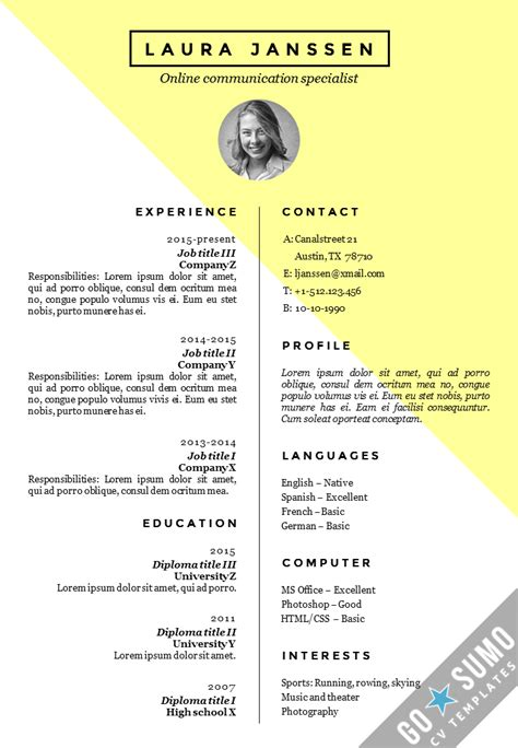 free creative resume templates word download 35 free creative