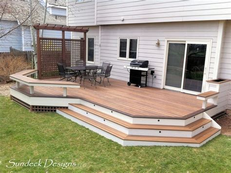 Ground Level Patio Ideas by Ground Level Evergrain Deck Deck Other Metro By
