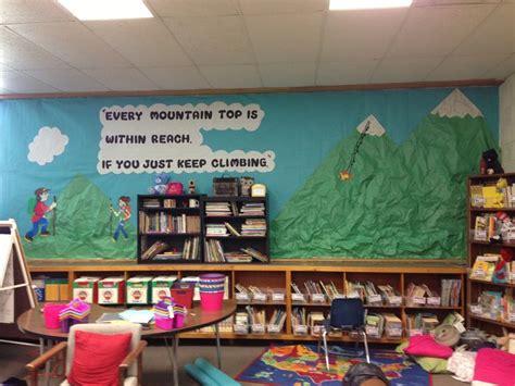 mountain themed decor mountain theme mural classroom decorations