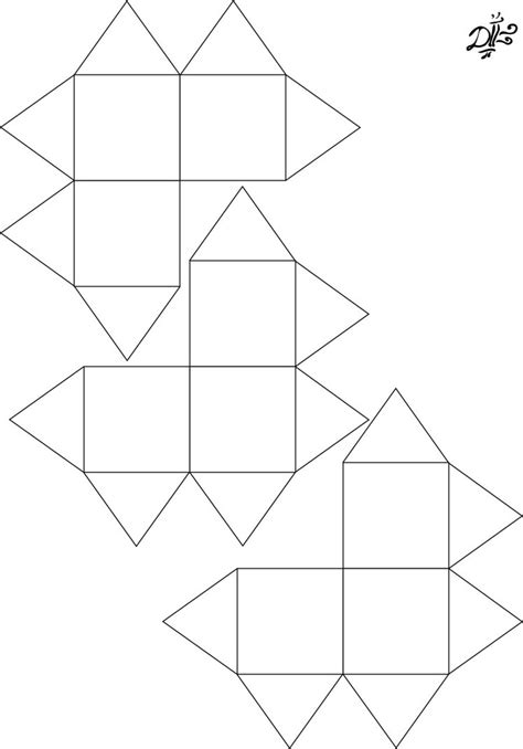 pattern for a paper cube yoshimoto cube pattern by 3dasha on deviantart