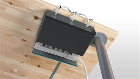 under desk cable management plug hub power strip organizer keeps your surge protector