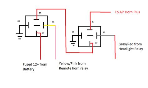 air horn relay wiring diagram air free engine image for