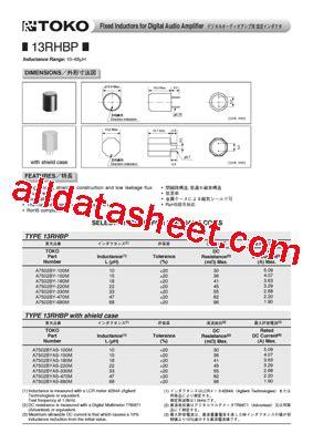 toko inductors toko inductor datasheet 28 images toko inductors datasheet 28 images 919as 160m datasheet