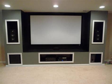 built  entertainment system  basement projection