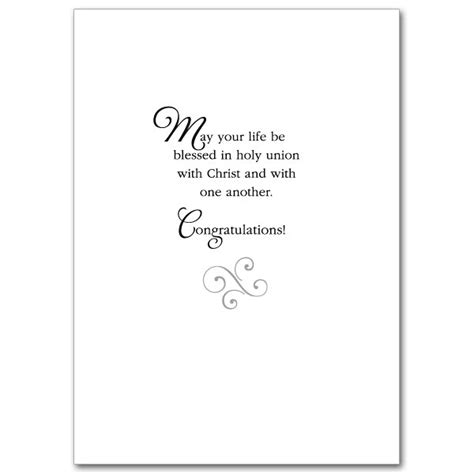 Congrats Text Gift Card - a prayer for your wedding day wedding congratulations card
