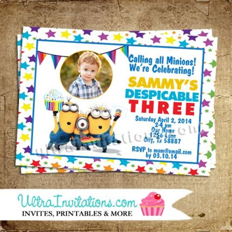 Despicable Me Invitations Template Best Template Collection Despicable Me Invitations Templates