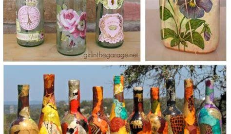 decoracion de botellas de vidrio con servilletas c 243 mo decorar botellas de vidrio con servilletas