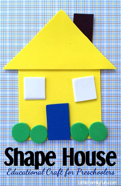 shape of house little family fun shape house educational craft