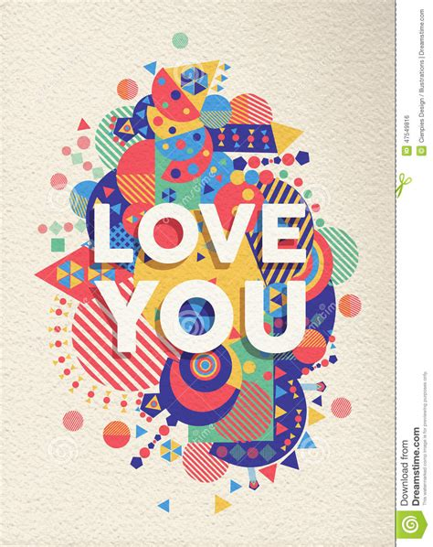 design poster cute love you quote poster design stock vector image 47549816