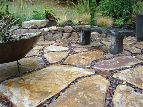 the patio river river rock patio large flagstone and river rock patio on