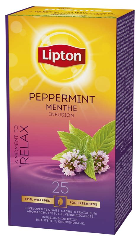 Teh Lipton Peppermint lipton peppermint menthe infusion 25 filtri unilever food solutions