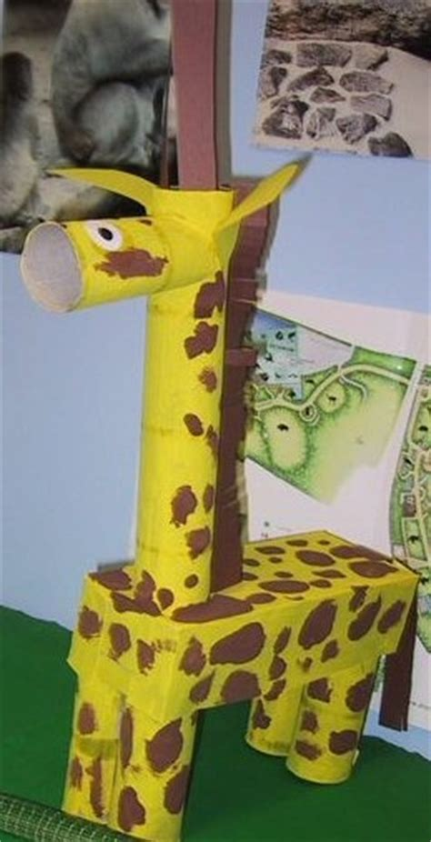 Crafts Made Out Of Construction Paper - giraffe made out of paint toilet paper paper towel cores