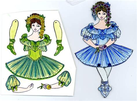 jointed paper doll ballerina design art journal pinterest 37 best a jointed paper doll images on pinterest jumping