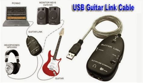 Usb Efek Gitar Android usb guitar link cable efek gitar dahsyat di pc laptop