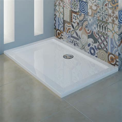 piatto docci piatto doccia ultrasottile in acrilico 4cm bianco