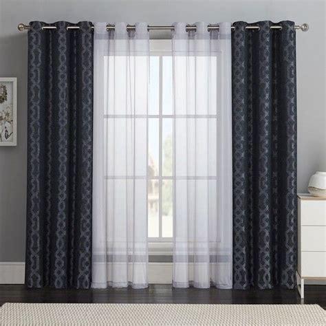 double window treatments victoria classics 4 pc barcelona double layer curtain set