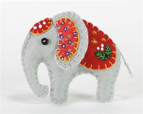 Elephant Handmade - felt elephant ornament handmade elephant ornament