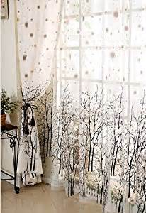 Curtains With Trees On Them Elleweideco Modern Tree Branch Window Curtains Drape Panel And Matching Sheer