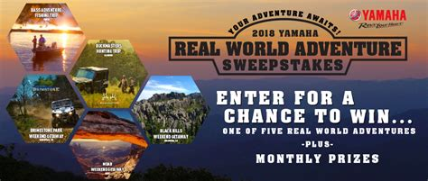 Adventure Sweepstakes - 2018 yamaha real world adventure sweepstakes rules