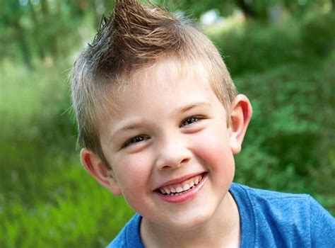 boy haircut with spiked bamgs little boys haircuts cute to wear