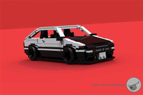 lego toyota corolla toyota corolla ae86 initial d with bodykit 10 wide