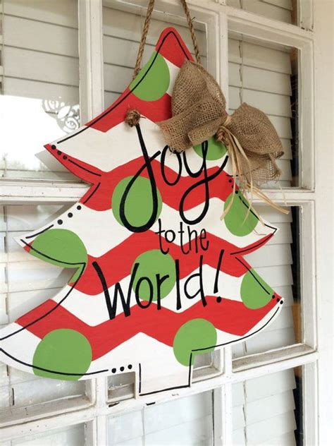 wooden door hanger christmas tree masterpiece mixers