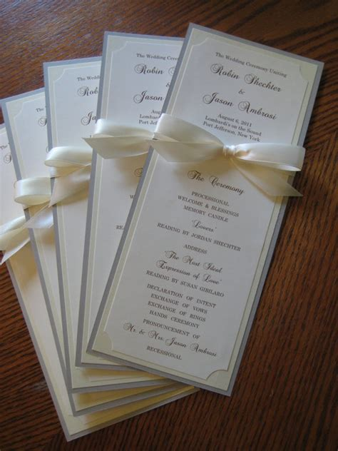 wedding program ideas best 25 wedding programs ideas on wedding signage small wedding