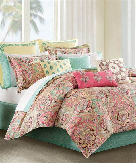 coral colored comforter set coral mint paisley comforter set paisley bedding