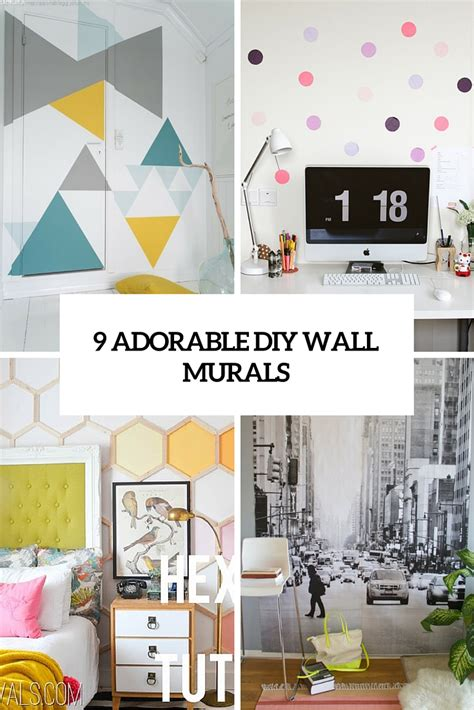 how to make wall murals 9 adorable and easy to make diy wall murals shelterness