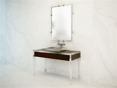 Acrylic Vanity modern vanity rendering macassar and acrylic modern bathroom vanities and sink