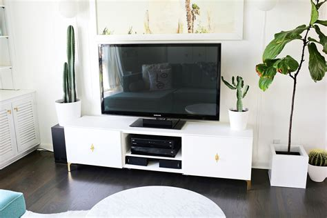 ikea restyle mid century tv stand a beautiful mess
