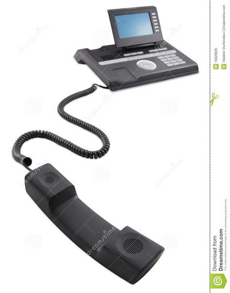 tel 233 fono negro moderno de la oficina de asunto foto de