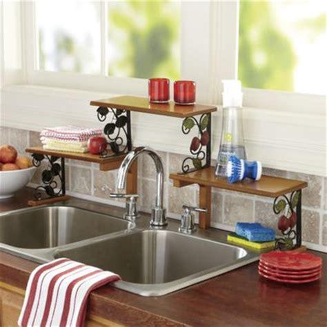 Wood The Sink Shelf by 2 Tier Apple Sink Shelf From Seventh Avenue Di717348