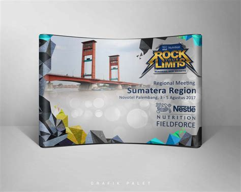 jasa desain backdrop backdrop nestle regional meeting sumatera grafik palet