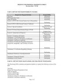 scope of work contract template sle rfp reference sheet and scope of work template