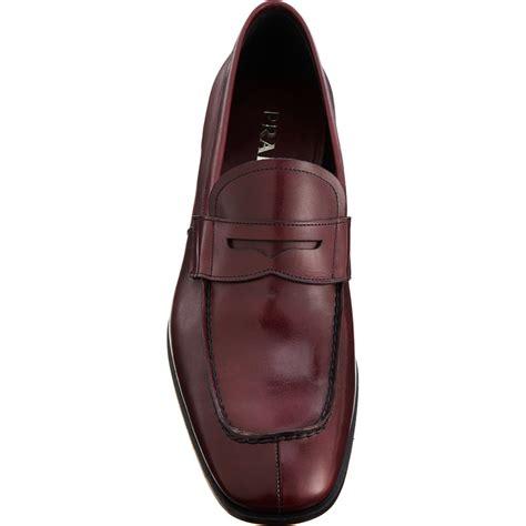 split toe loafer prada split toe loafer in purple for burgundy