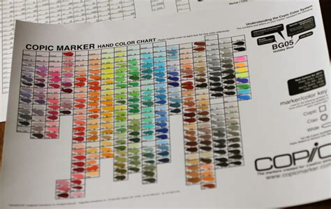 Copic Color Swatch Book Printable