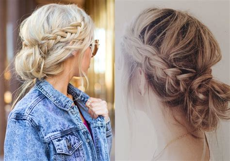 cornrows and loose bun lovely timeless messy braids hairstyles 2017