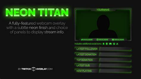 discord overlay obs neon titan green webcam overlay twitch overlay