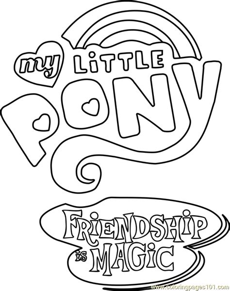 my little pony logo coloring pages my little pony friendship is magic logo coloring page