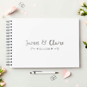 Wedding Album Guest Book by Wedding Guest Books And Photo Albums Notonthehighstreet