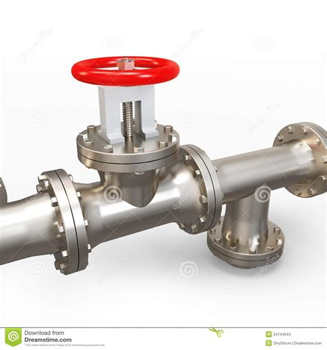 Ita Plumbing by 3d Pipe System And Valve Stock Images Image 24144544