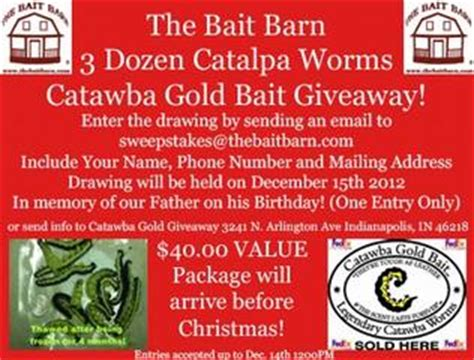 Sweepstakes Shipping - blogs the bait barn in indianapolis in 46218 fishing